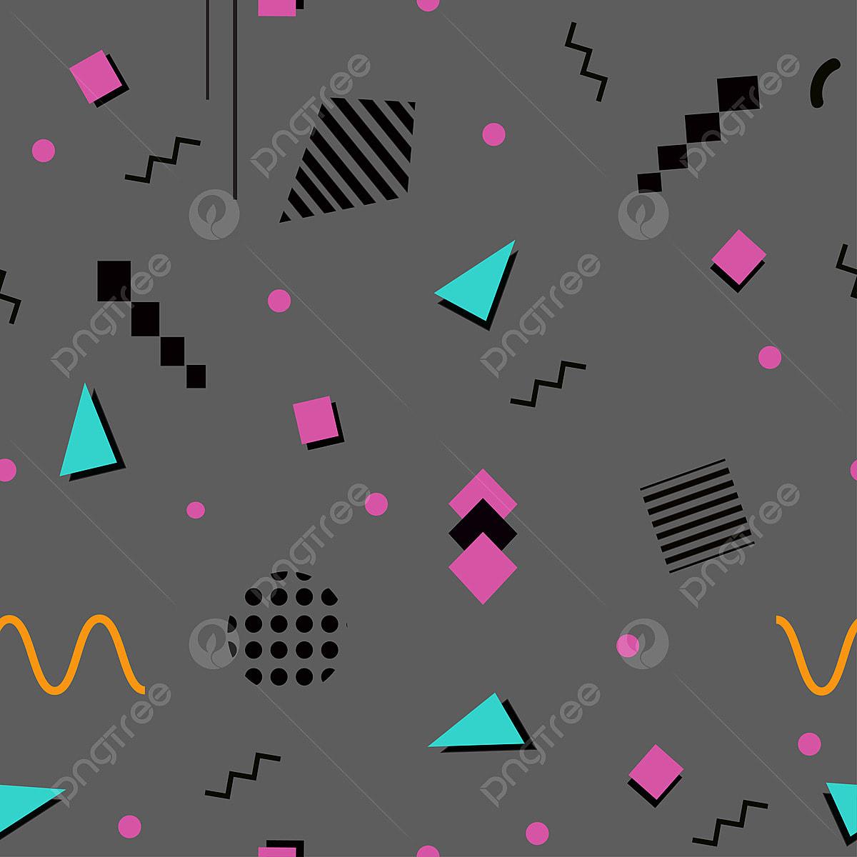 Memphis Seamless Pattern 80s 90s Styles, Pattern, Memphis