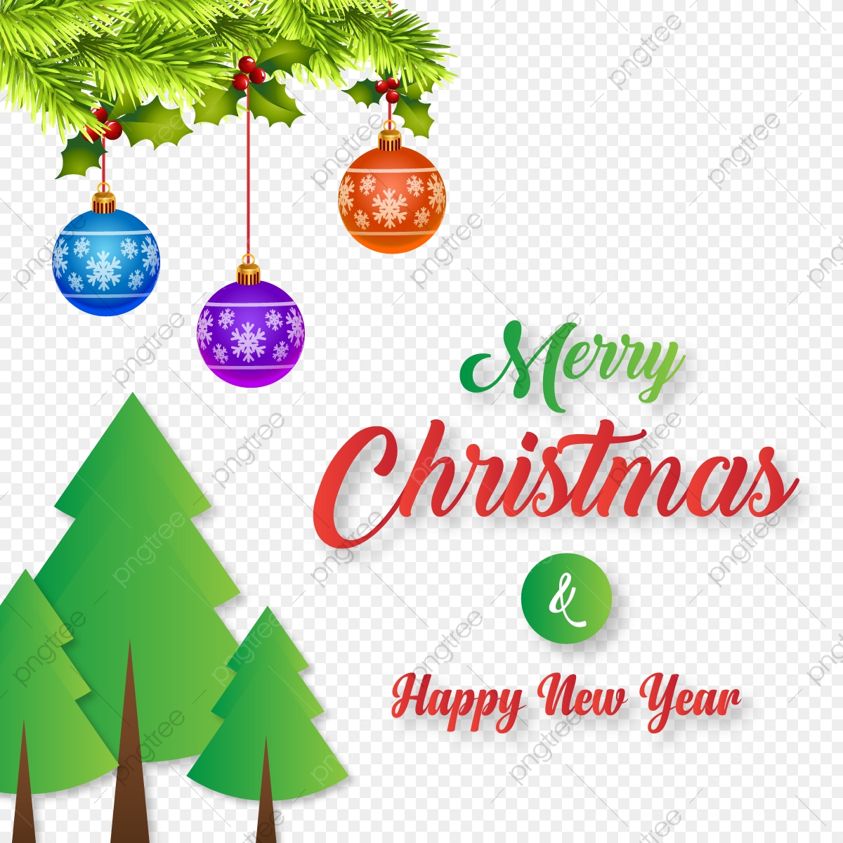 Christmas And New Year Wishes.Merry Christmas And New Year Wishes With Xmas Theme Flat