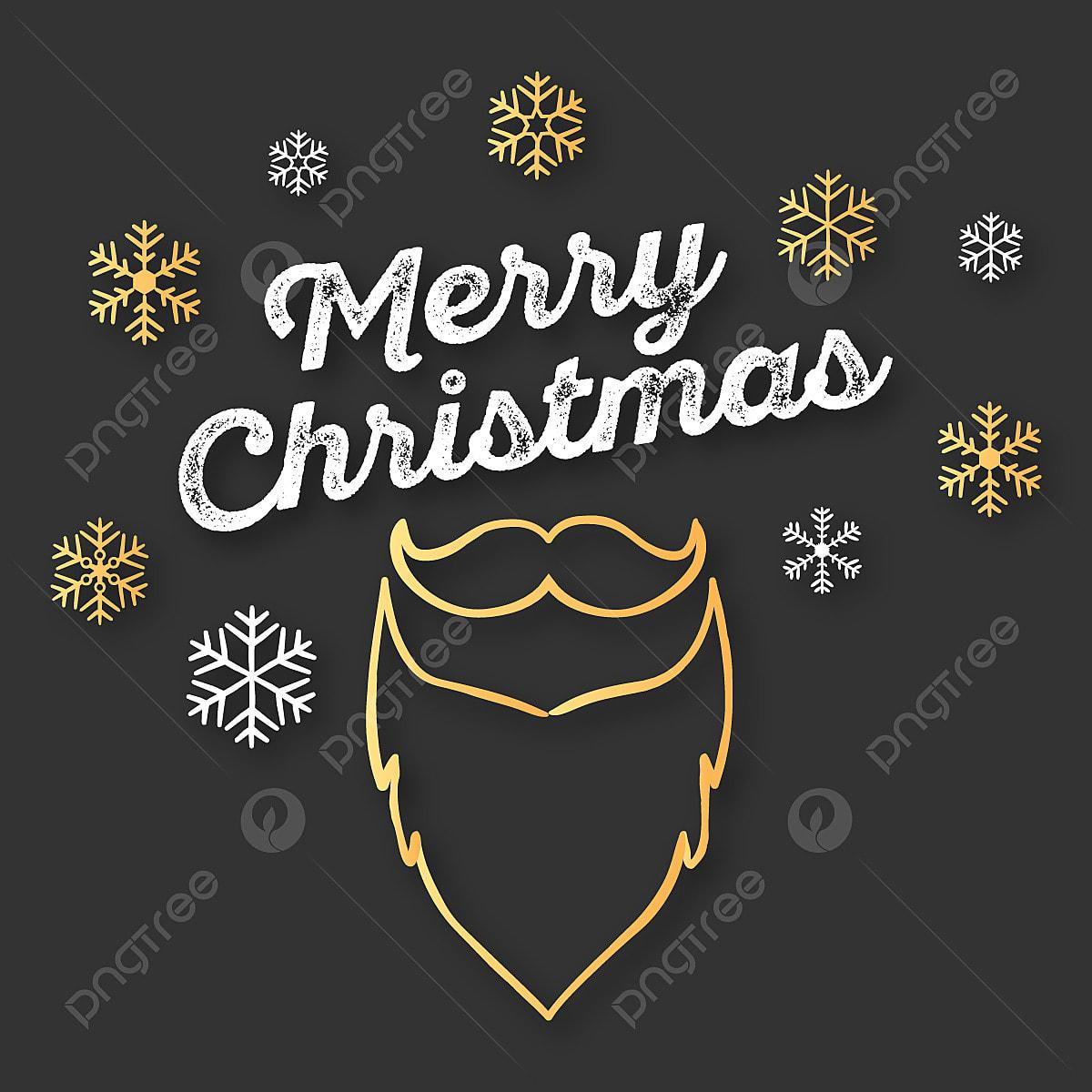 Joyeux Noël De Flocons De Neige Sur Golden Et Décoration