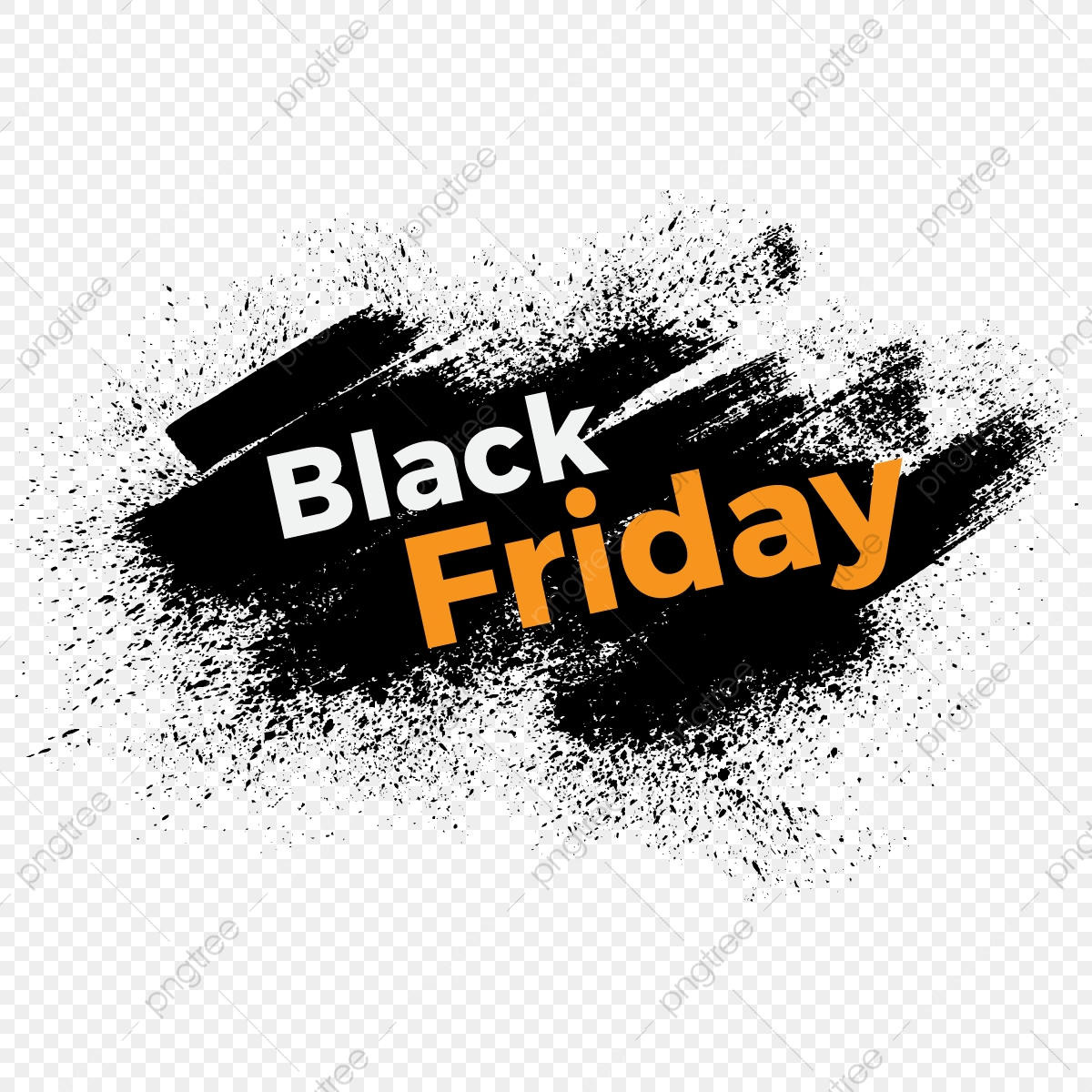 Modern Black Friday Vector With Grunge Style Modern Black Friday Png And Vector With Transparent Background For Free Download
