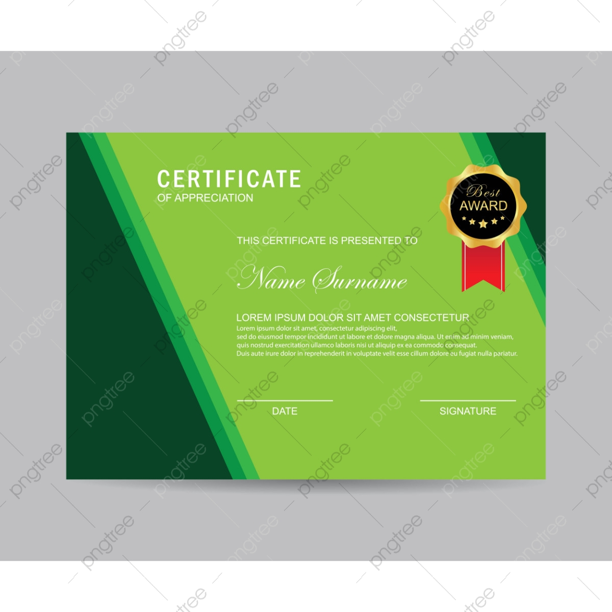 Modern Green Certificate Certificate Modern Template Png And Vector With Transparent Background For Free Download,80s Designer Imposters Body Spray