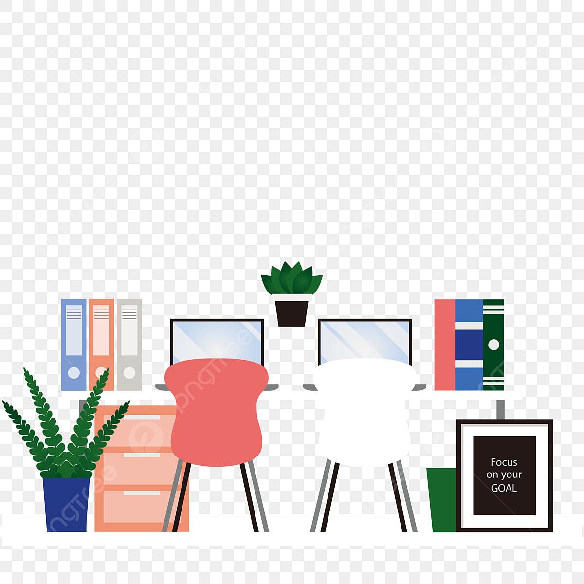 事務所 仕事 家で イラスト, バナー, 仕事, グリーンプラント画像素材の無料ダウンロードのためのPNGとベクトル