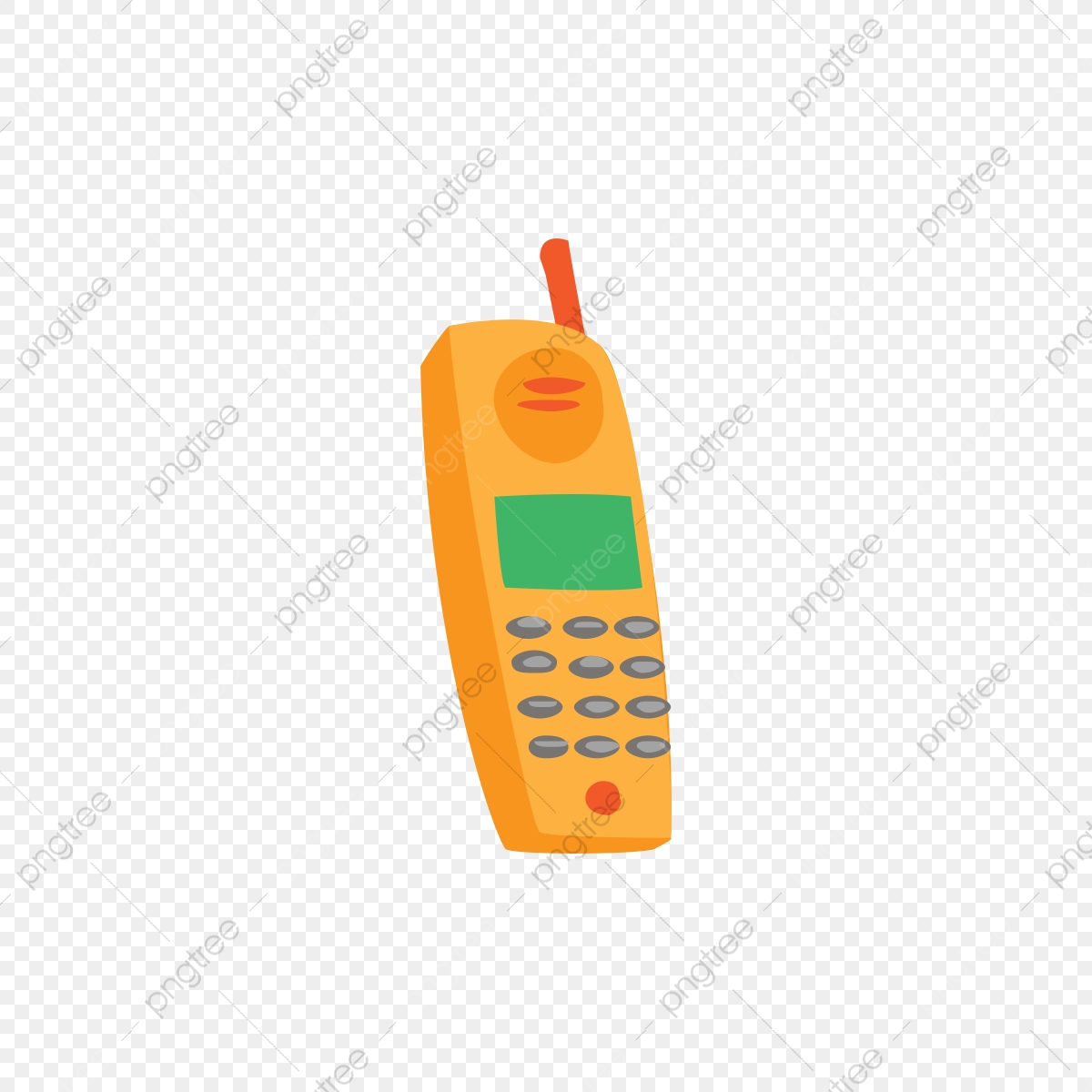 Old Handphone Vector Style Phone Illustration Icon Png And Vector