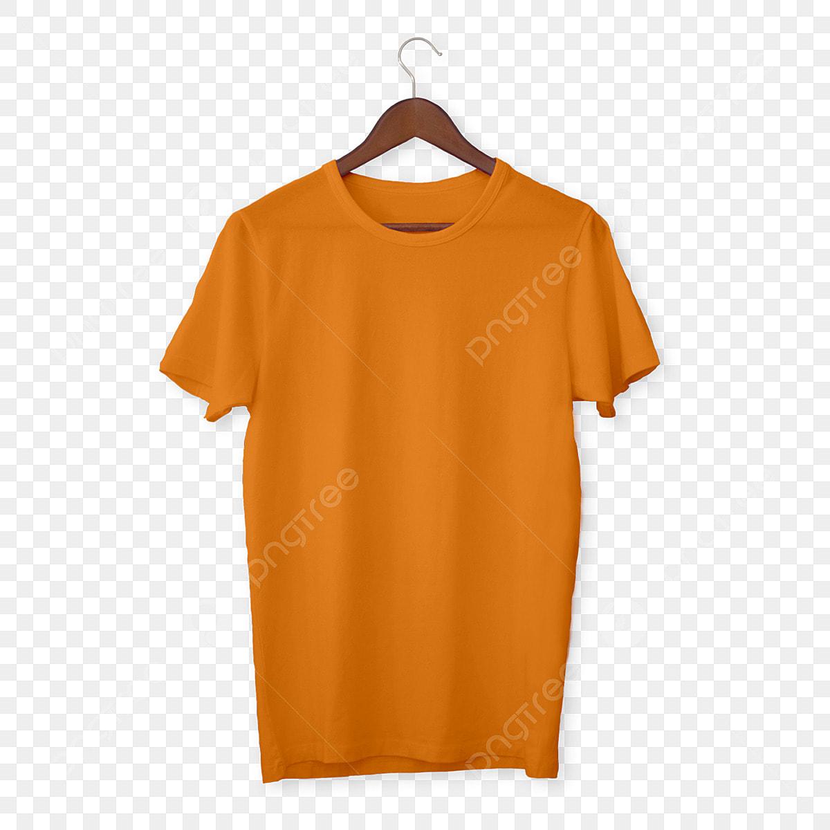Orange T Shirt Mockup T Shirts Mens White Png Transparent