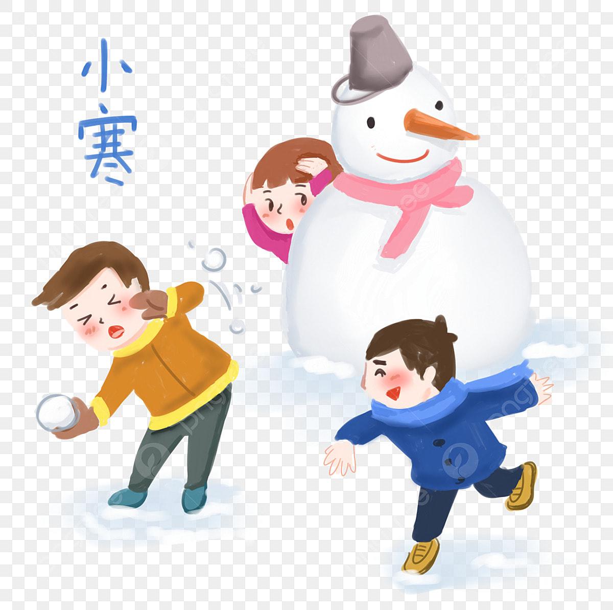 雪玉手描きイラストイラストレーションを投げる伝統祭り 修 大寒さ