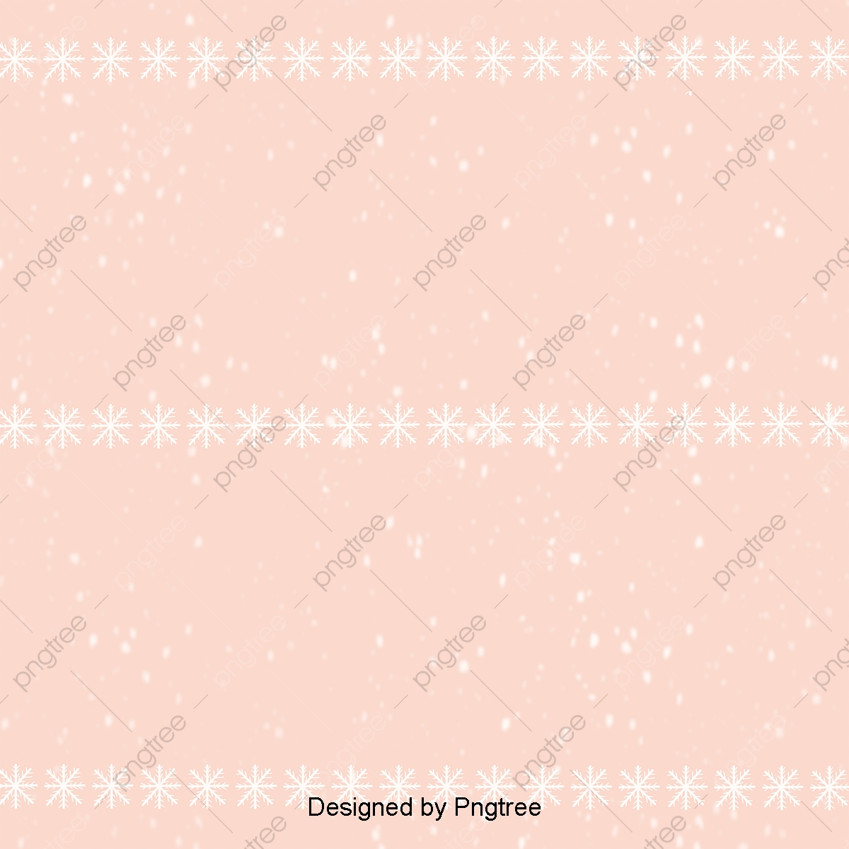 Pink Cartoon Simple Christmas Background, In The Winter