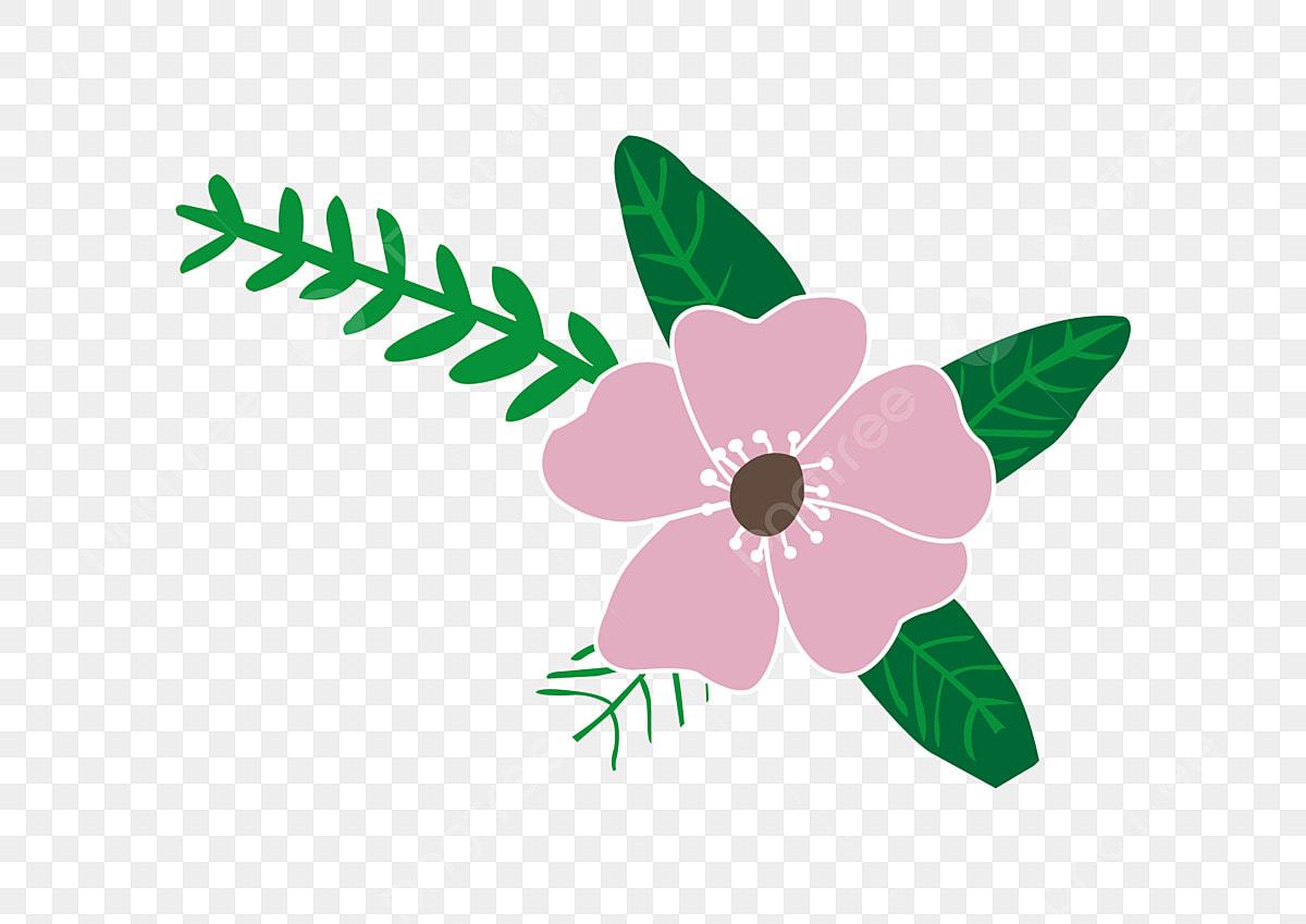 Les Fleurs Roses Feuille Fleurs Peints à La Main De 300