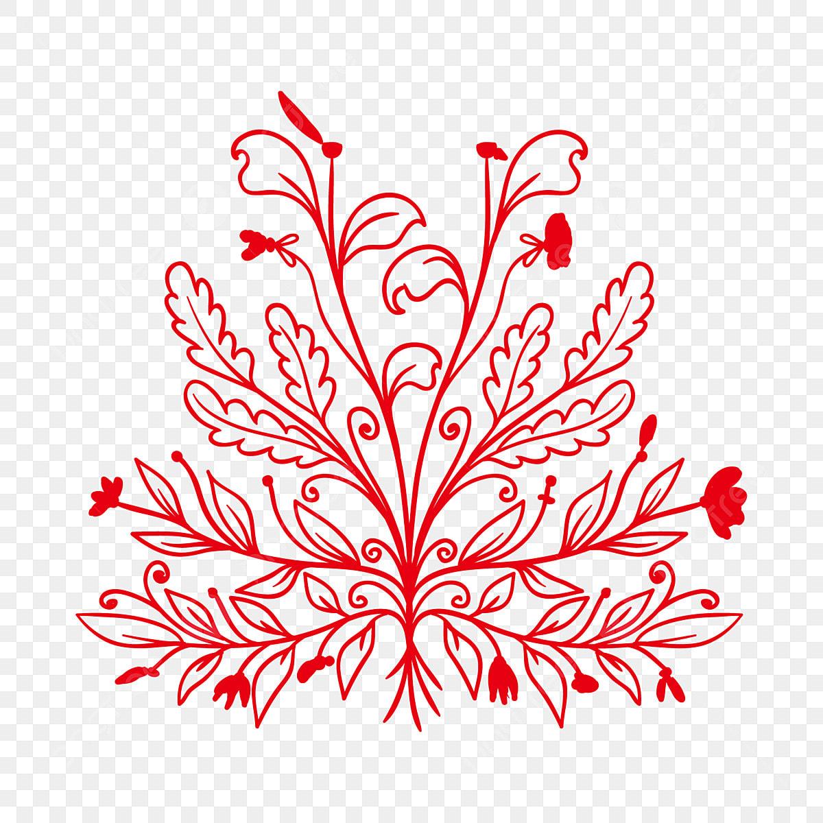 Feuille De 300 Pixels Planter Des Fleurs Peintes à La Main