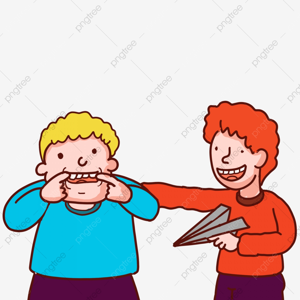 Funny Cartoon Images Of Boys playmate cartoon kid grimacing little boy boys playing