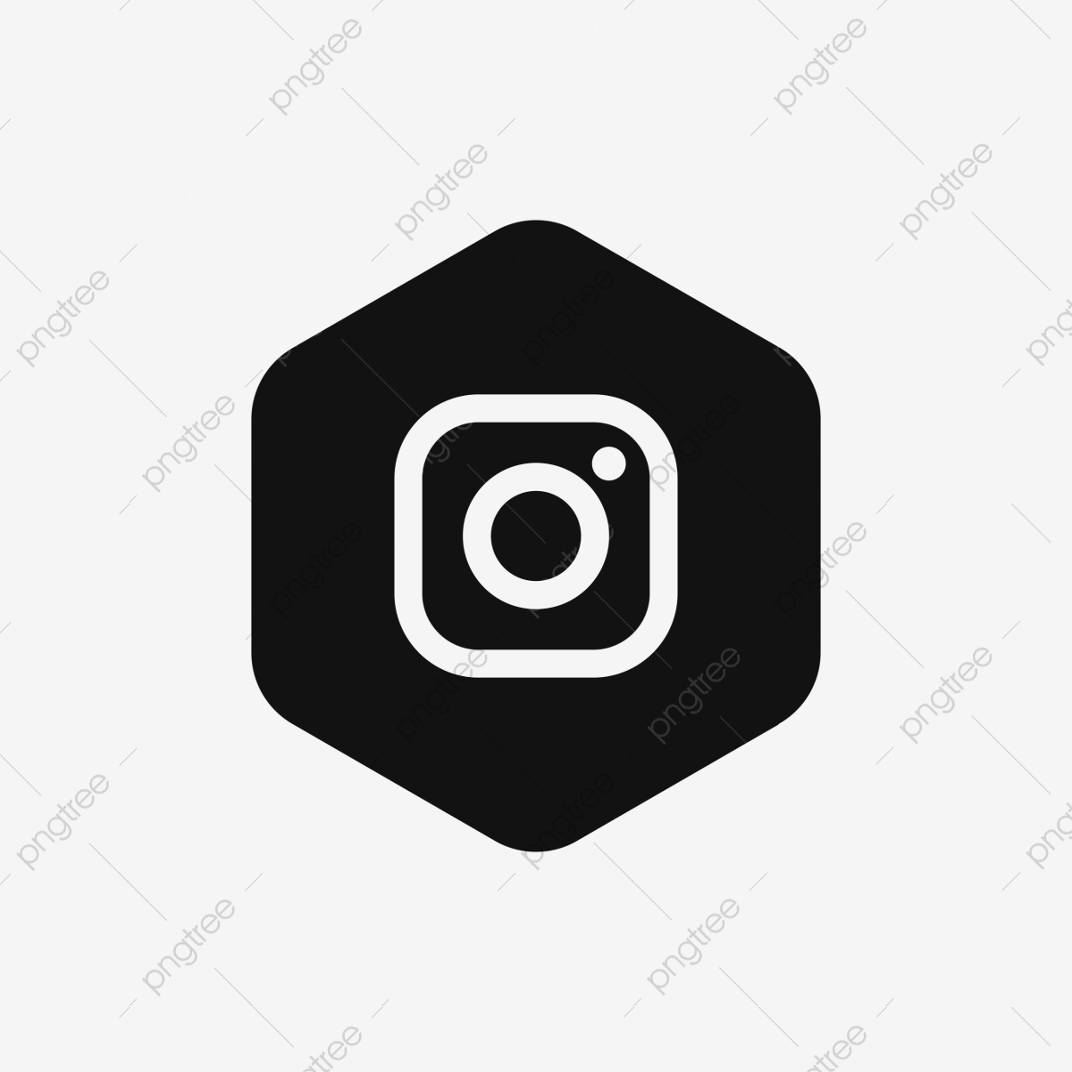 Polygon instagram icon black and white icon ig icon