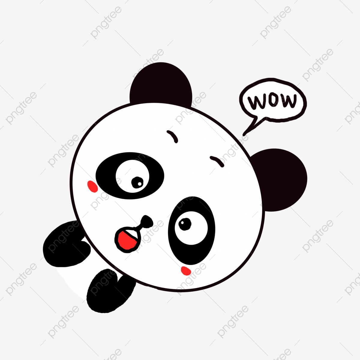 Versi Q Comel Kartun Haiwan Kecil Kartun Panda Kecil Fail