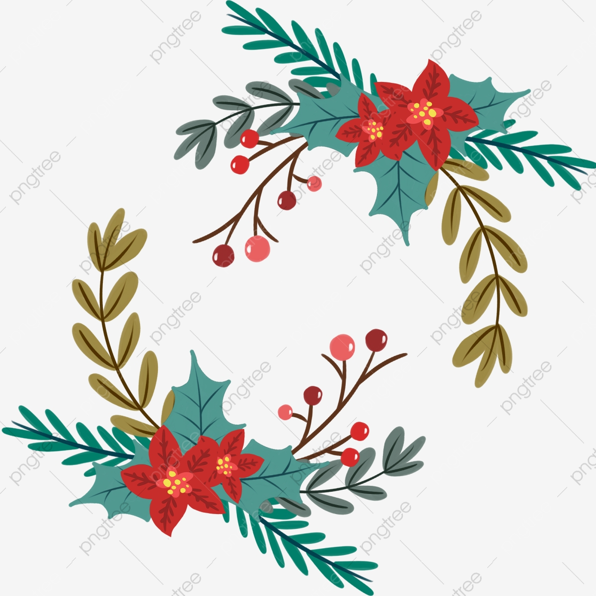 Christmas Flower Png Images Vector And Psd Files Free Download On Pngtree