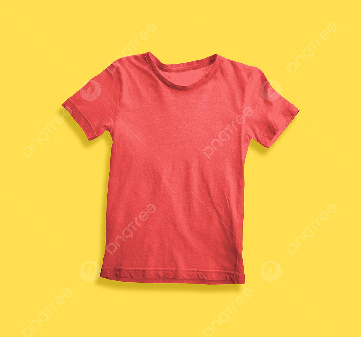 Trẻ Em Người Mẫu Dùng áo Màu đỏ áo Thun đàn ông Trắng