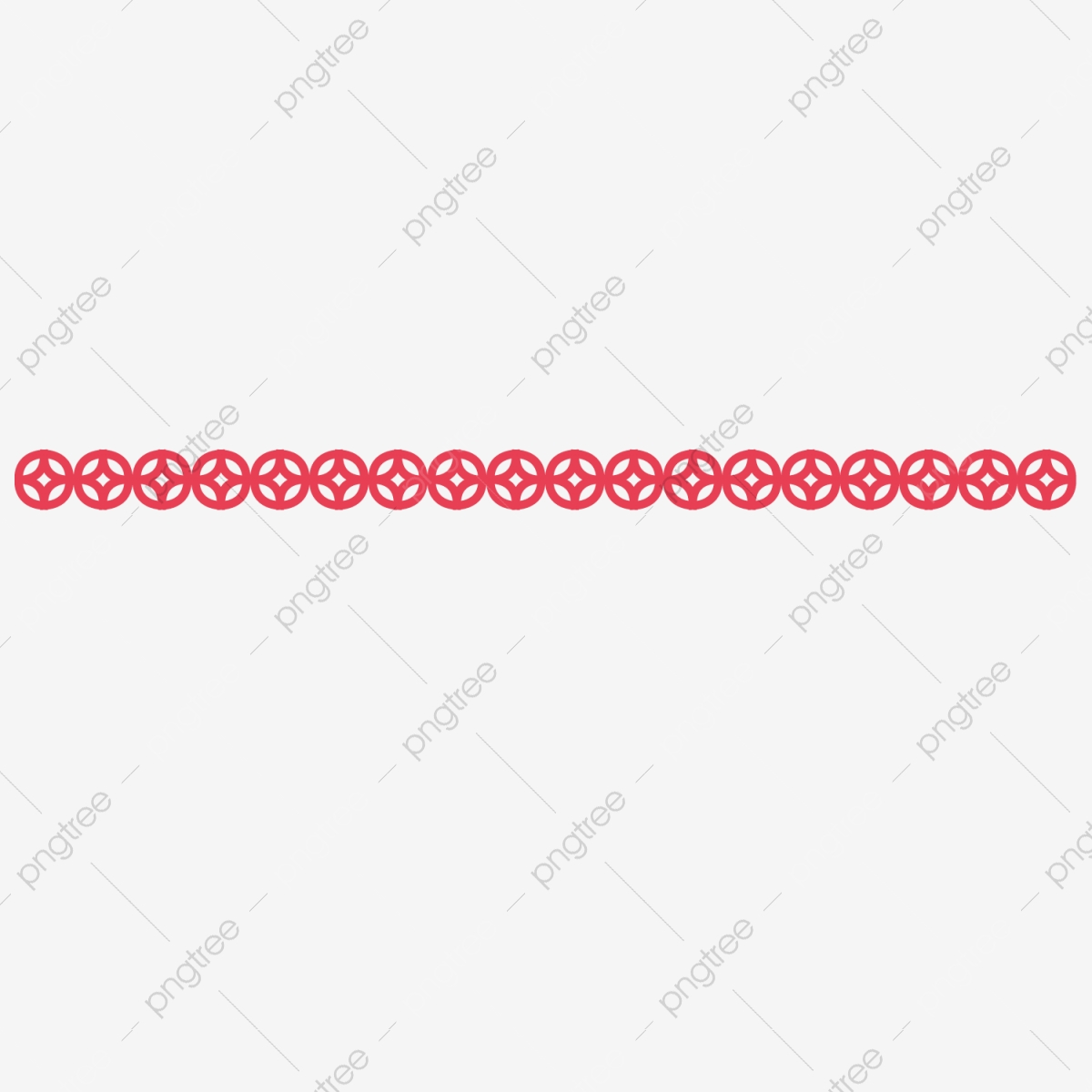 Red Traditional Pattern Dividing Line Dividing Line Pattern