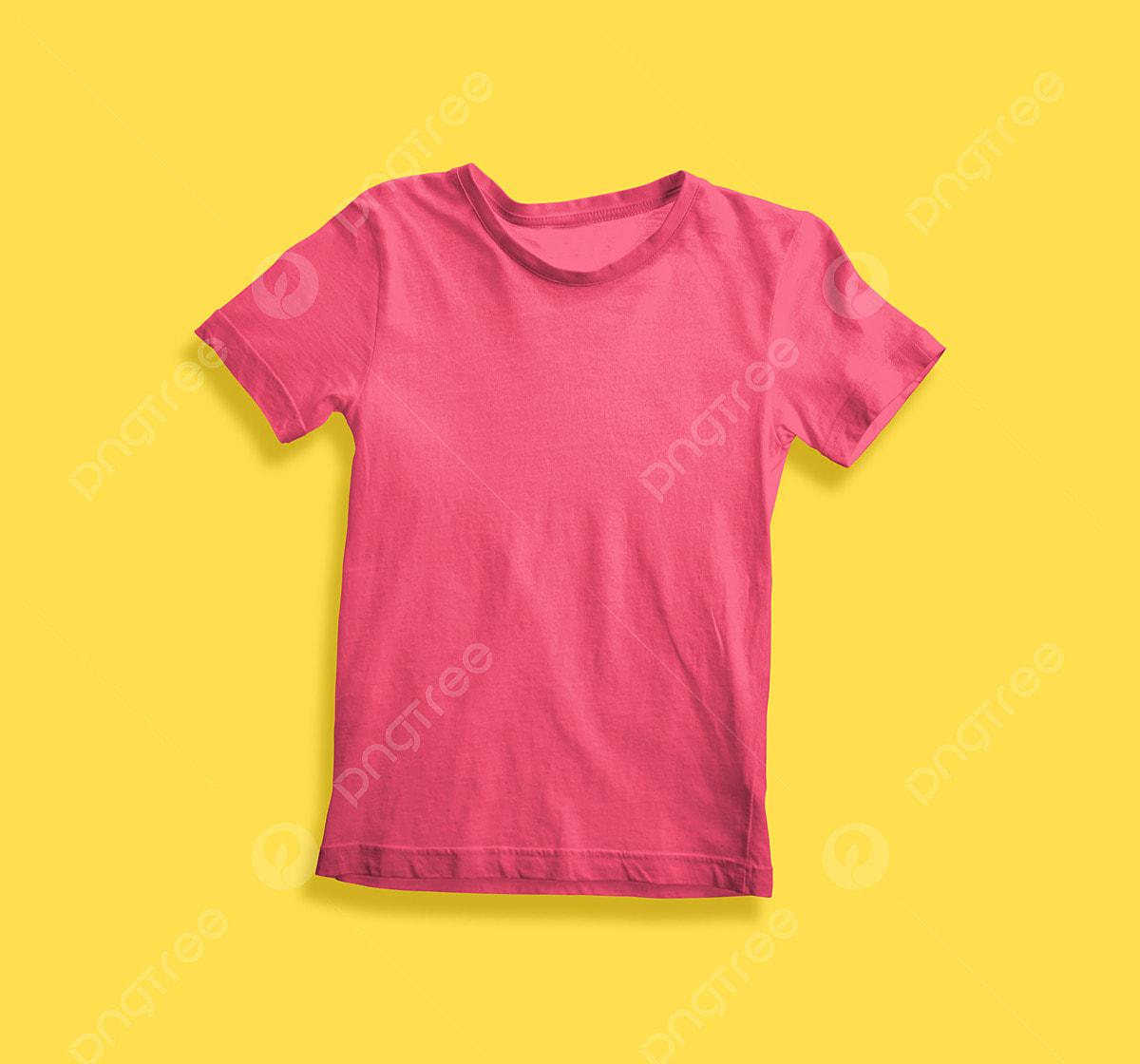 Rose Pink T Shirt For Kids Mockup T Shirts Mens White Png