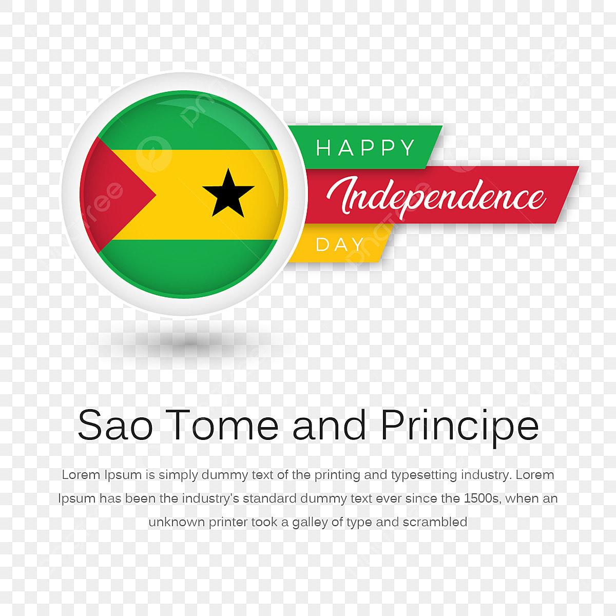 Santo Tome Y Principe Feliz Dia De La Independencia Con La Insignia