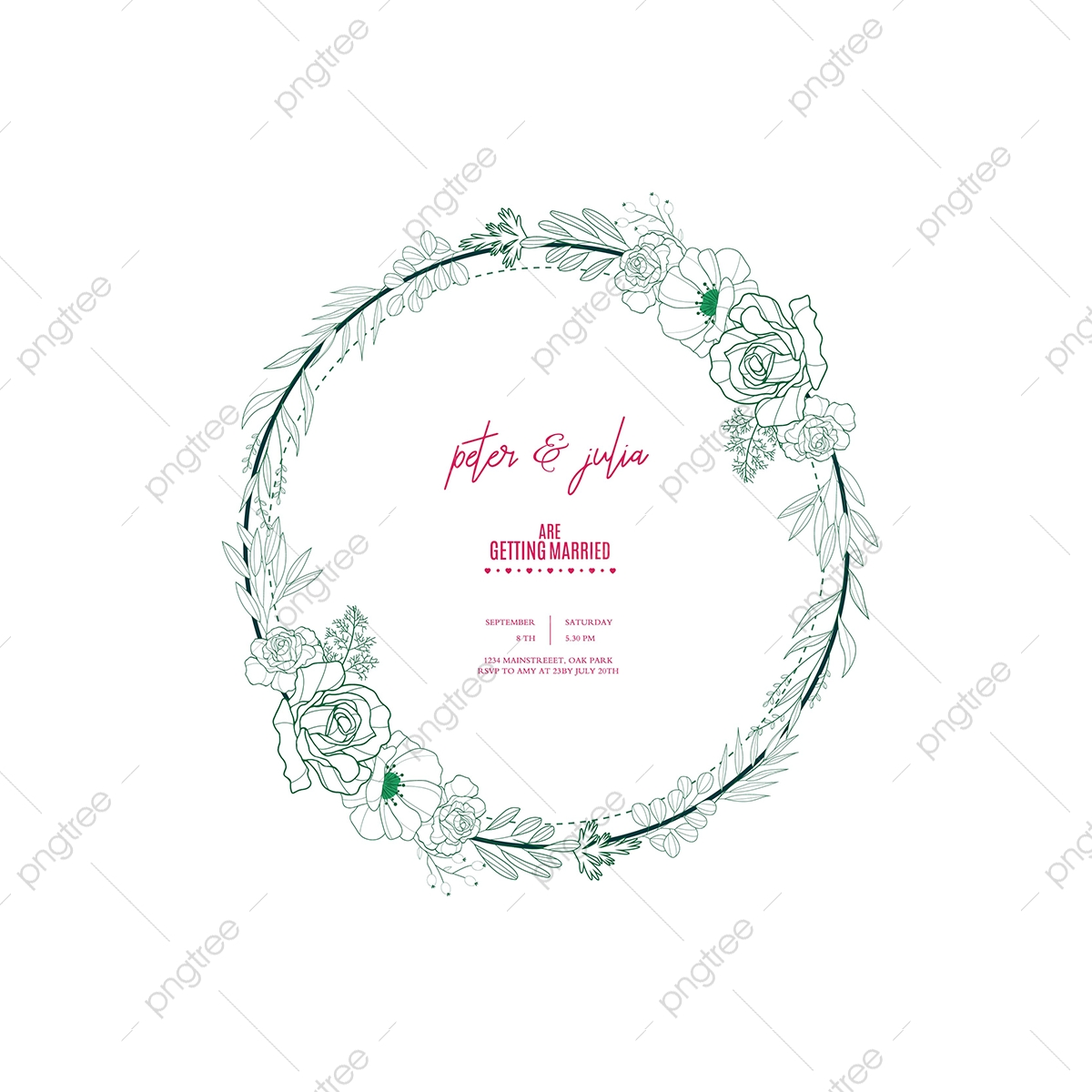 Save The Date Card, Frame, Wedding, Wedding Invitation PNG and