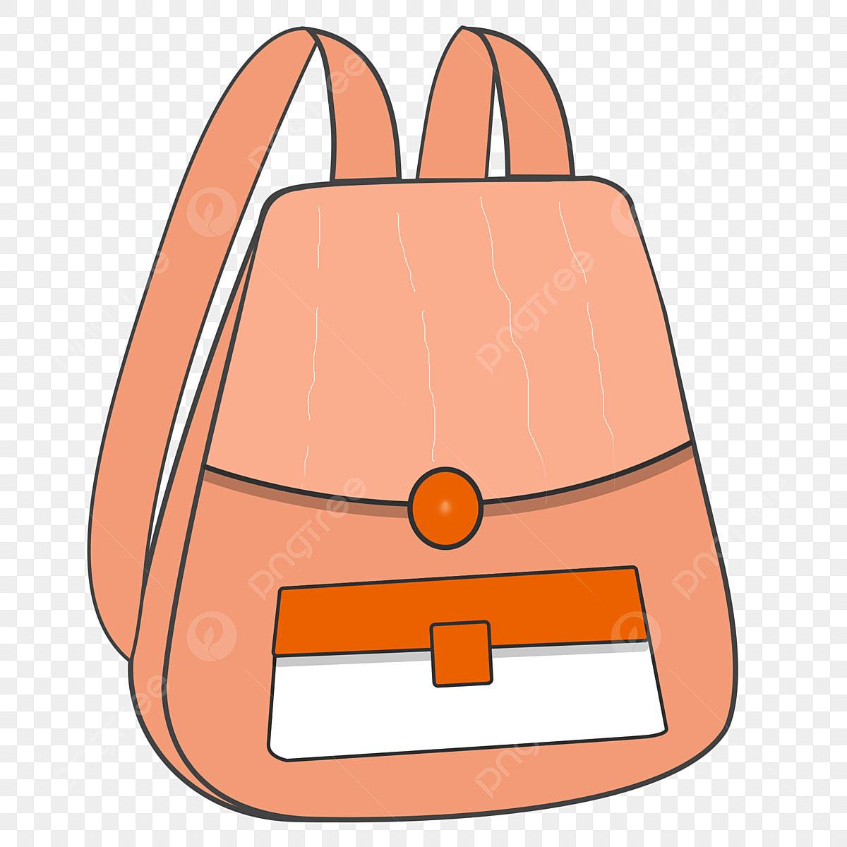 Beg Sekolah Kartun Sekolah Orange Musim Sekolah September ...