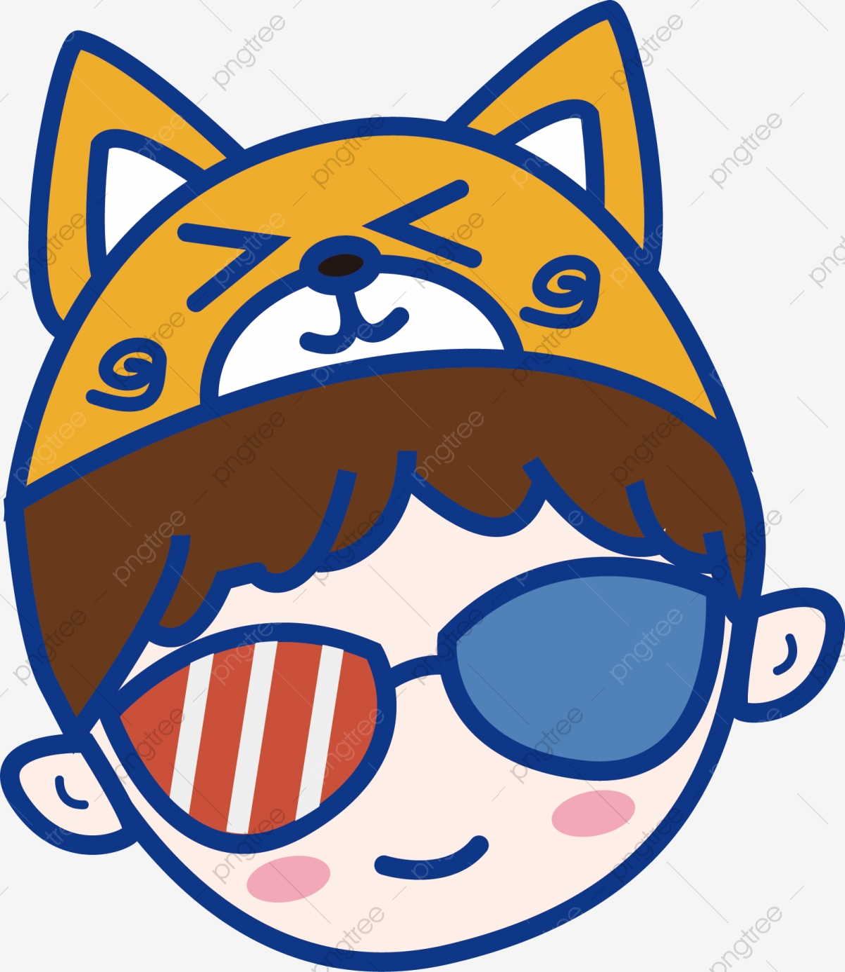9a57ebcfe شیبا اینو قبعة الولد الصغير الطفل الذكر يلبس نظارات جميلة حر PNG و قصاصات  فنية