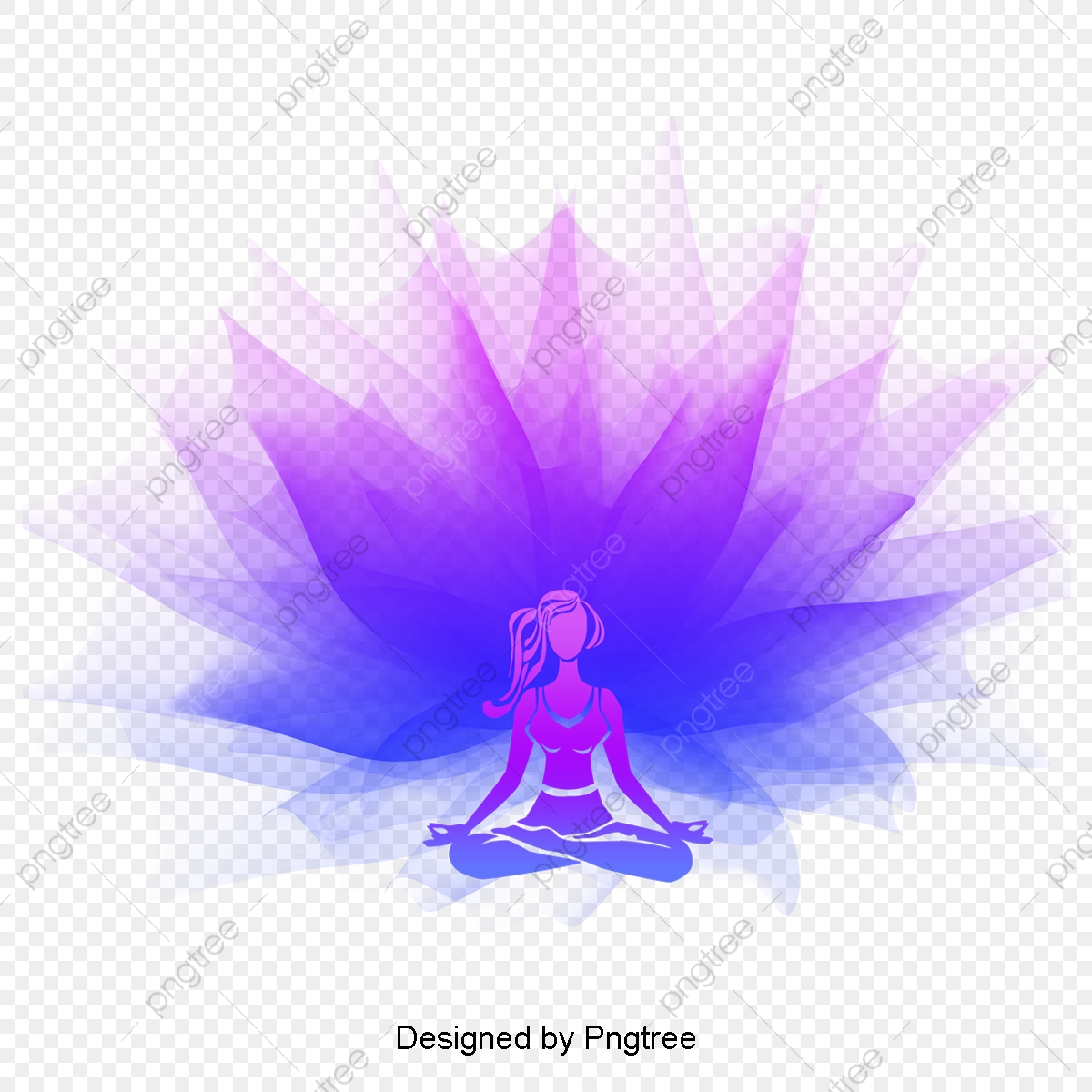 Simple Cartoon Beauty Yoga Decorative Pattern Yoga Purple Color Png Transparent Clipart Image And Psd File For Free Download