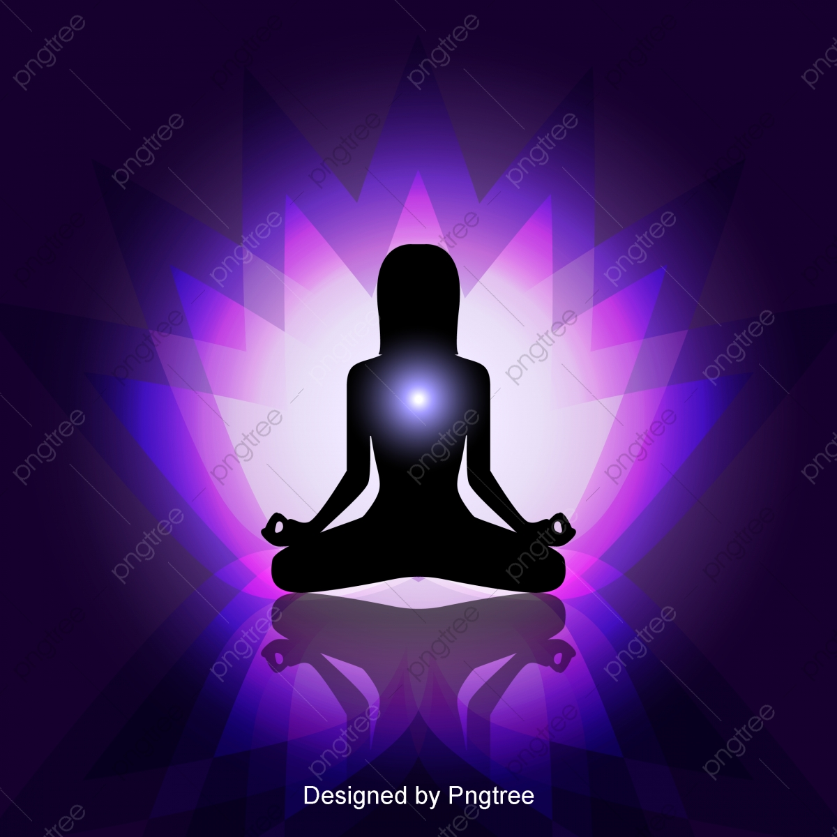 Simple Cartoon Beauty Yoga Decorative Pattern Meditation Purple Yoga Png And Vector With Transparent Background For Free Download