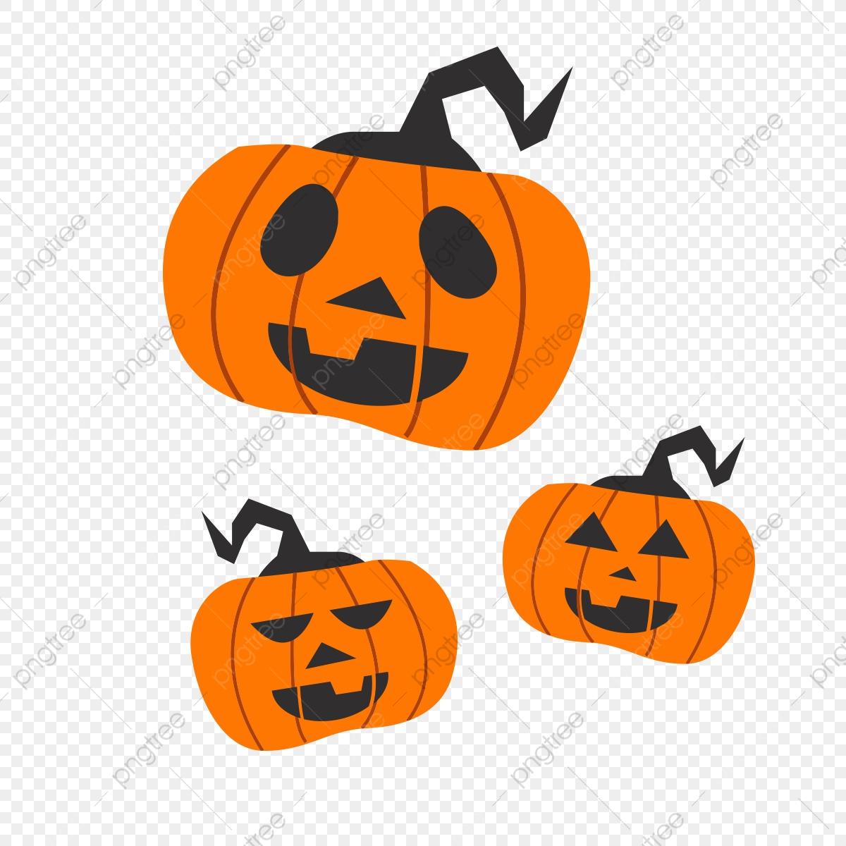 Simple Cartoon Halloween Design Pattern, Orange, Pumpkin