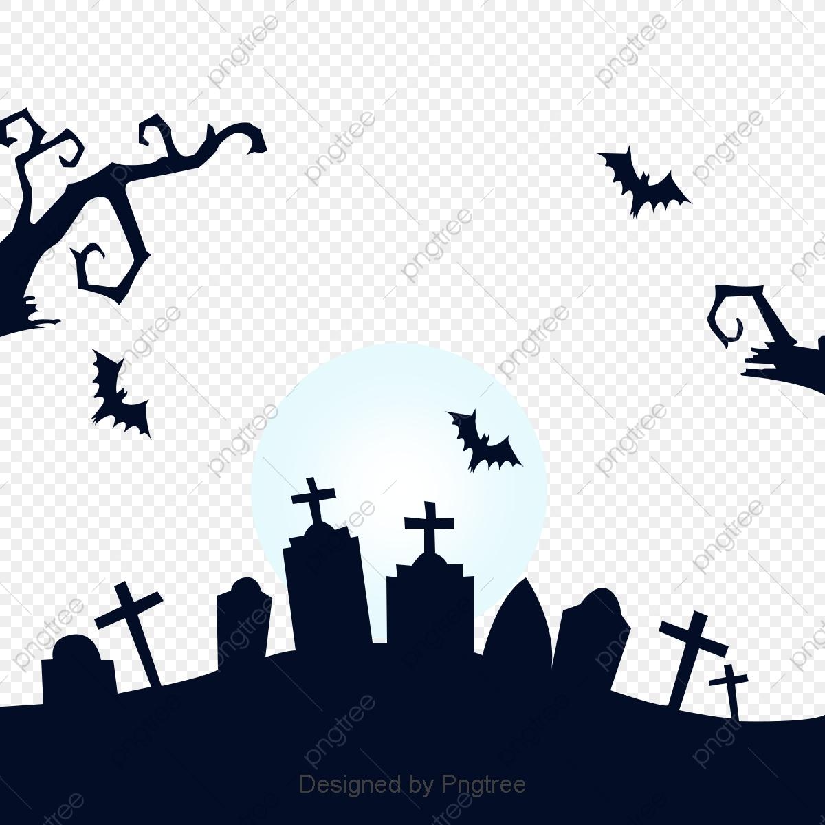 Simple Cartoon Halloween Design Pattern Silhouette Halloween