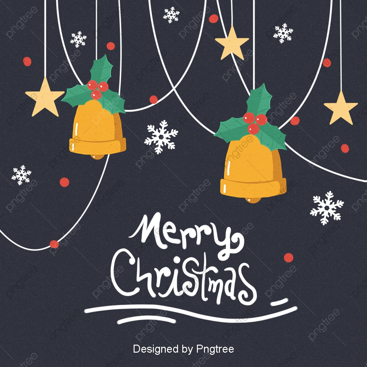 Simple Cute Cartoon Cute Christmas Card Background