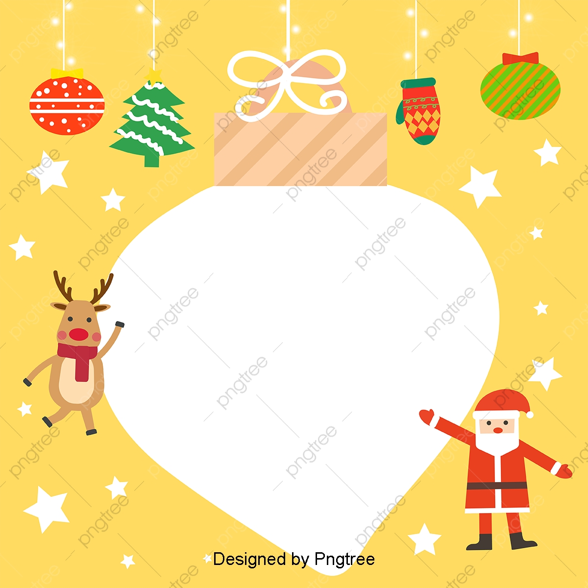 Simple Cute Hand Painted Christmas Cute Cartoon Background