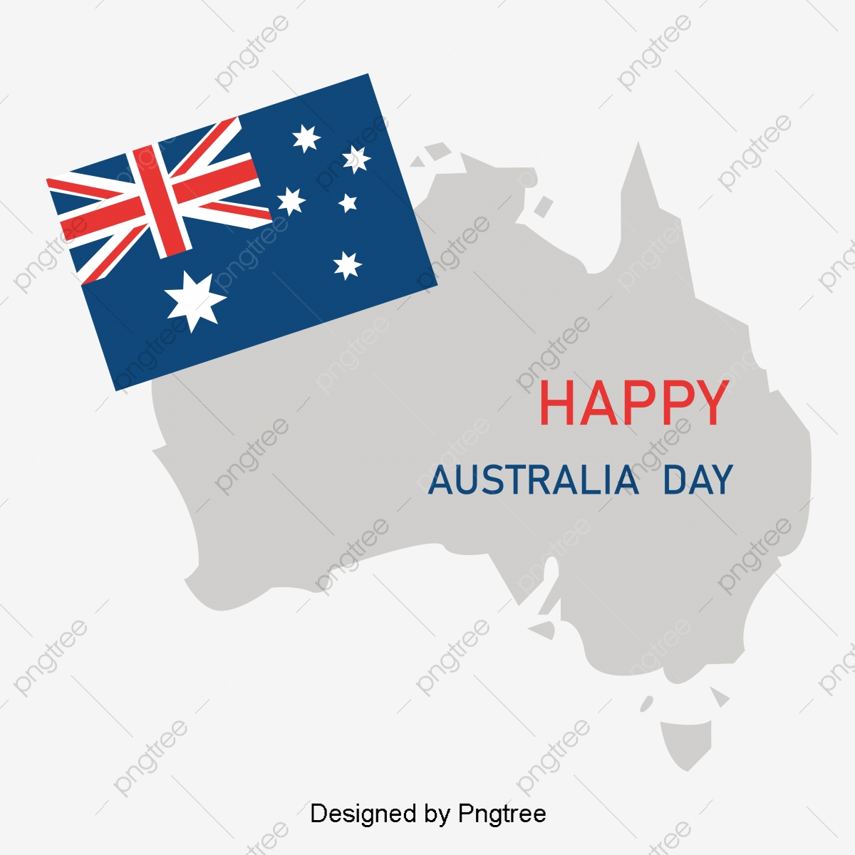 Australia Map Simple.Simple Elements Of Australian Festival Flag Map Holiday National