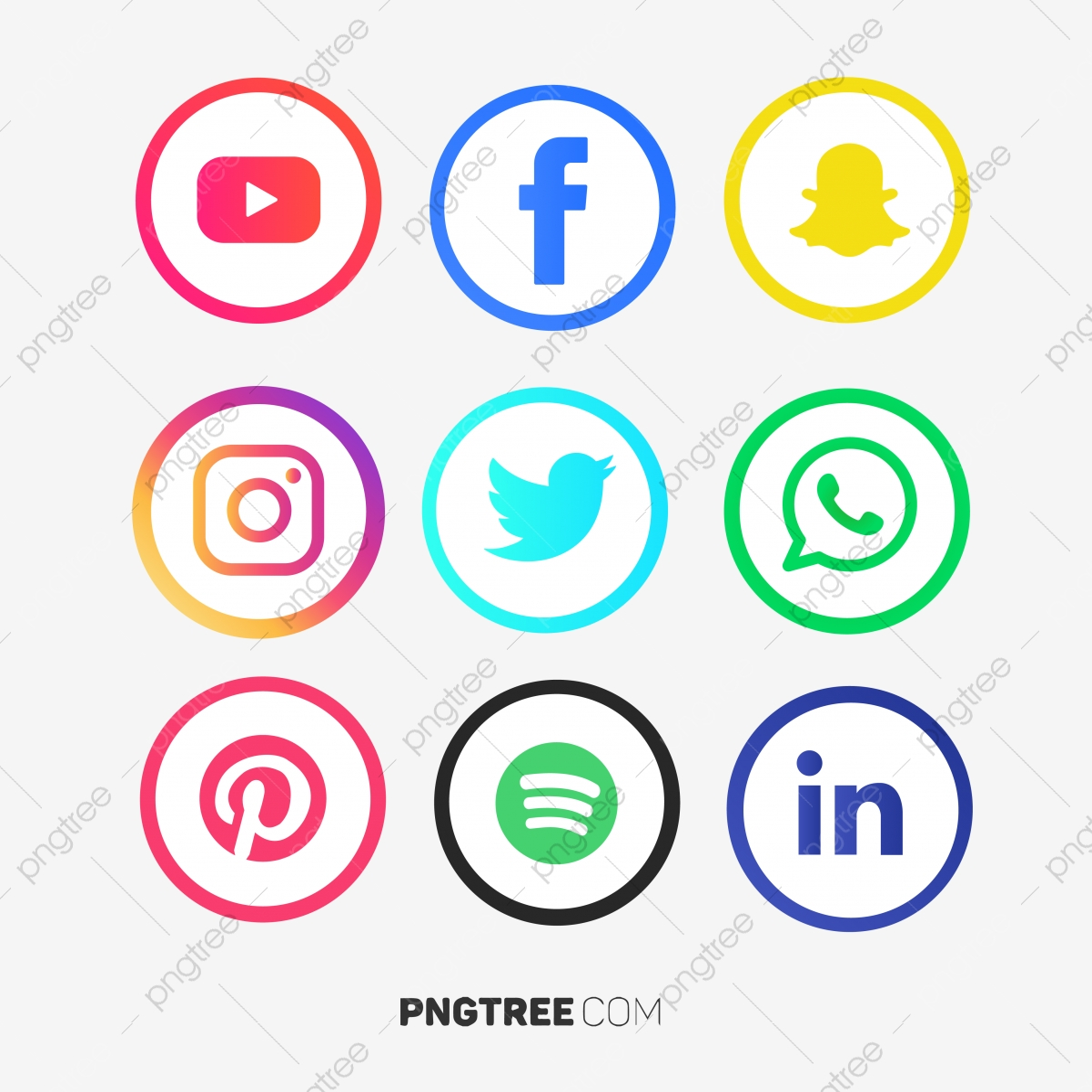 Vectores Redes Sociales Png