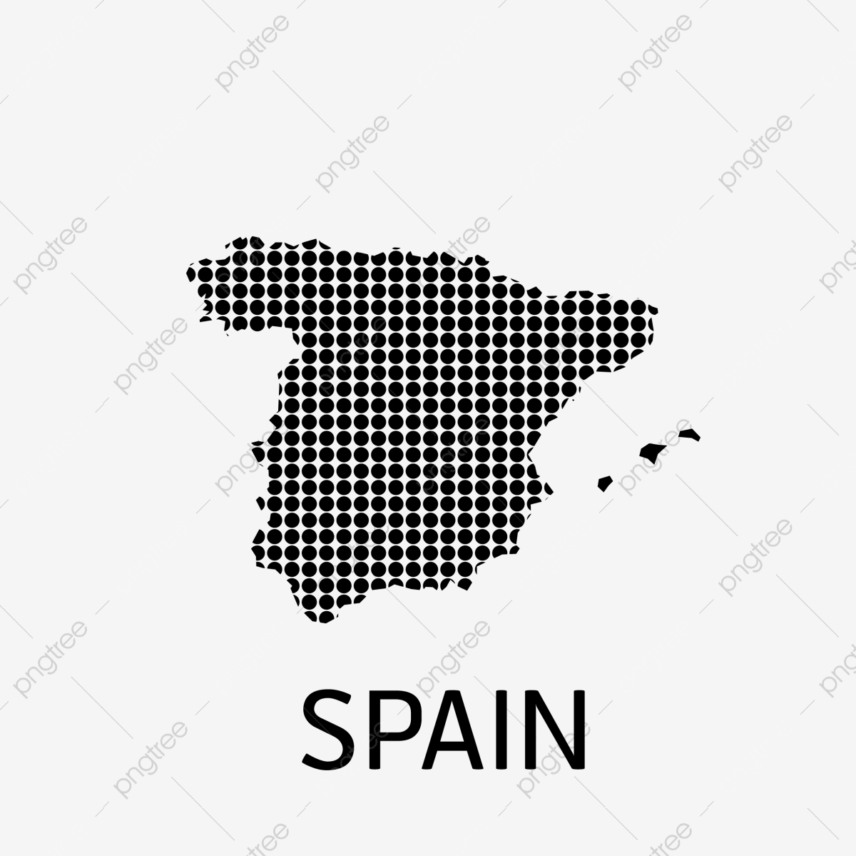 Spain Map, Spain, Map, World PNG and Vector with Transparent ...