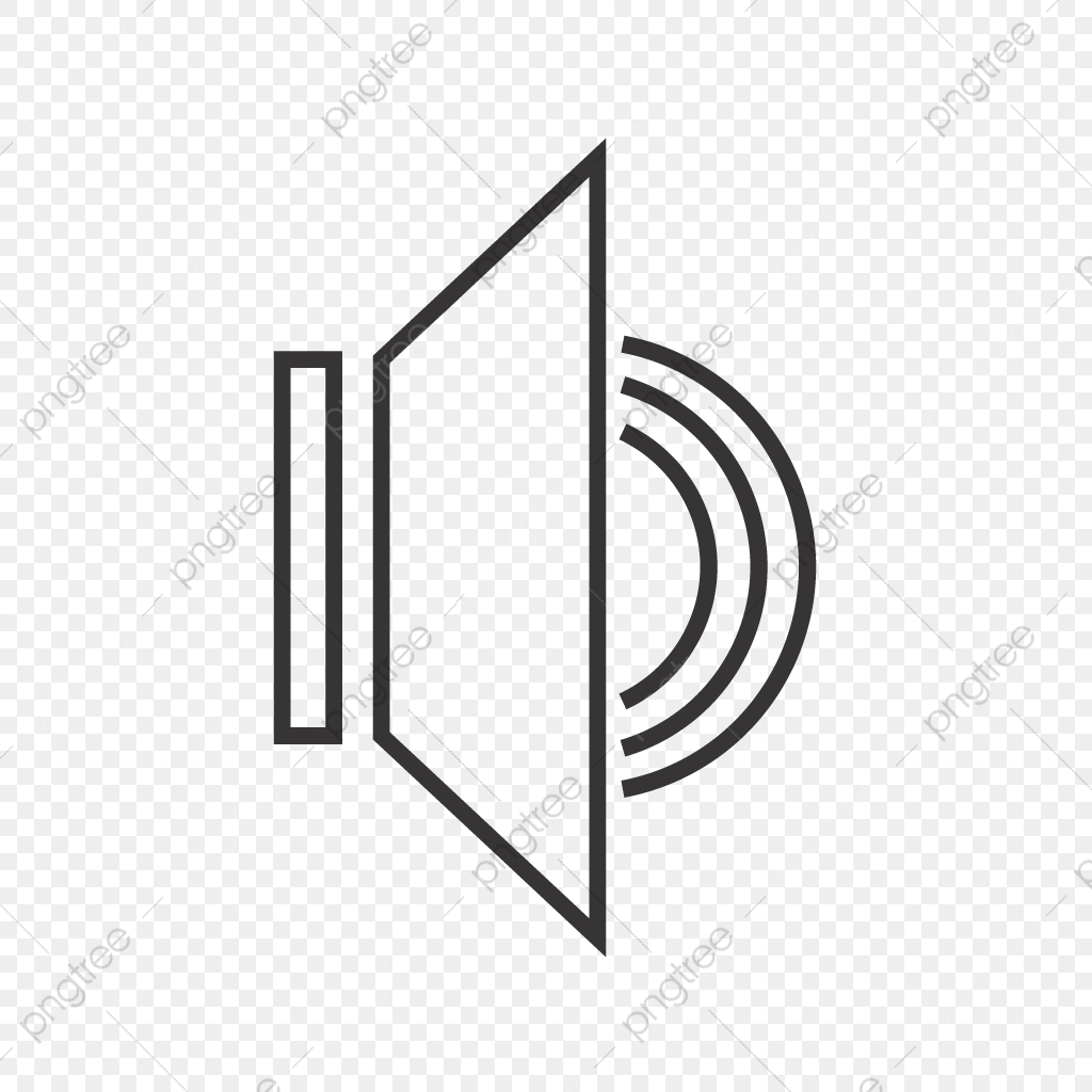 Speaker Line Black Icon, Speaker, Loud, Loud Speaker PNG and Vector