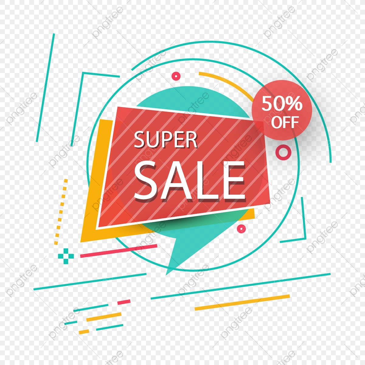 Super Sales Icon Elements, Sales, Discounts, Super PNG and