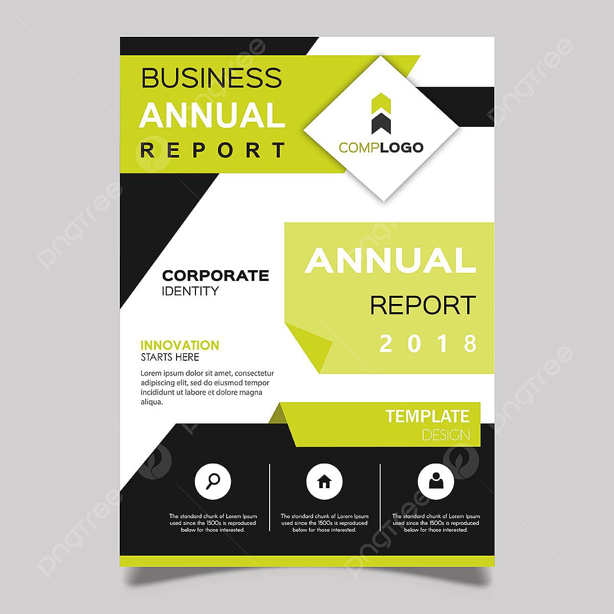 rapport annuel ou titre  vecteur 2018 les  u00e9tiquettes flyer conception png et vecteur pour