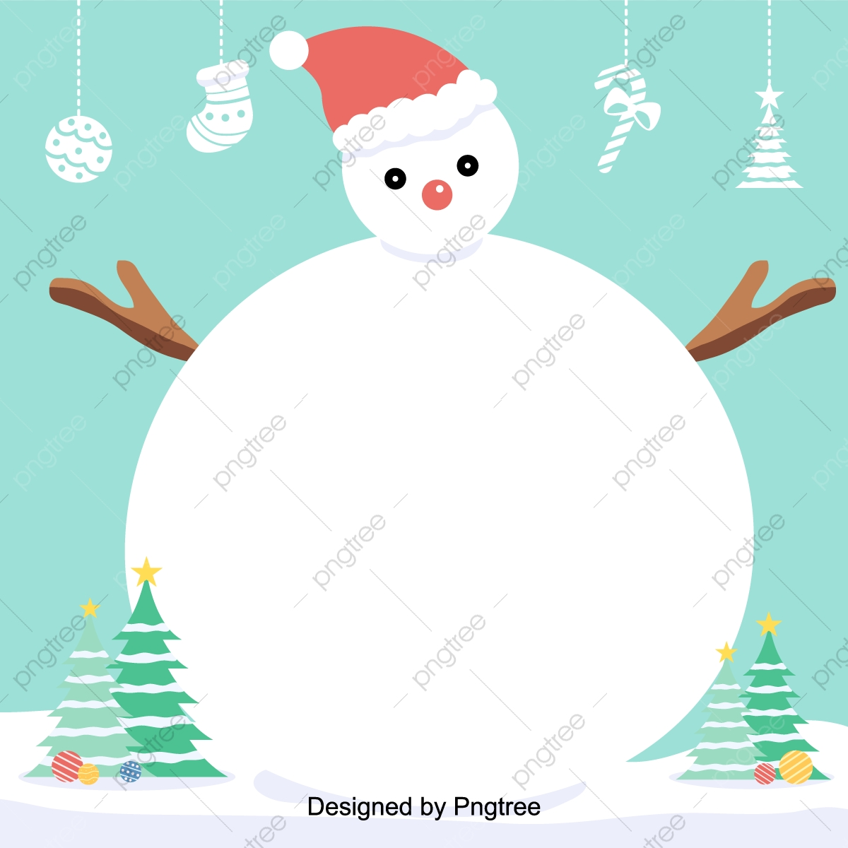 Christmas Cartoons.Vector Flattening Background Illustration Of Cute Christmas