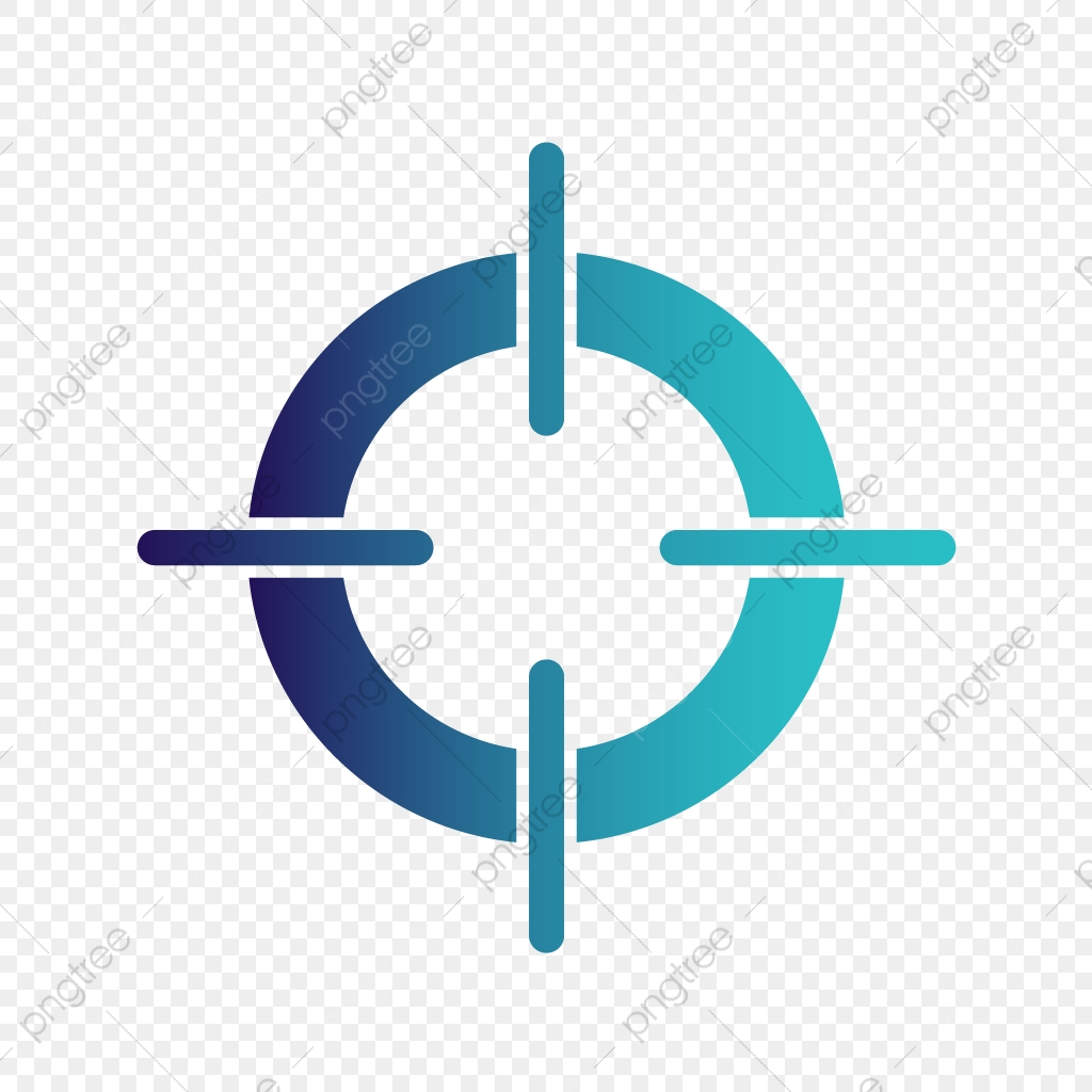 Vector Target Icon Target Aim Focus Png And Vector With