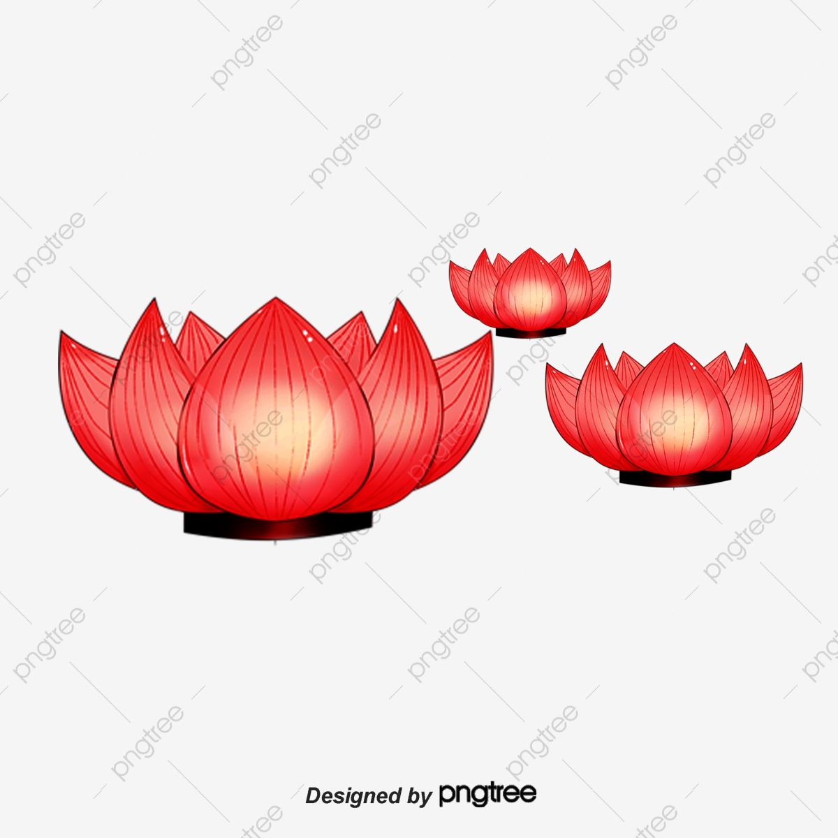 Vermilion Lantern Festival Chinese Style Soft Pale Aesthetic Cartoon Lotus Lantern Decoration Red Lotus Flower Festive Lantern Png Transparent Clipart Image And Psd File For Free Download