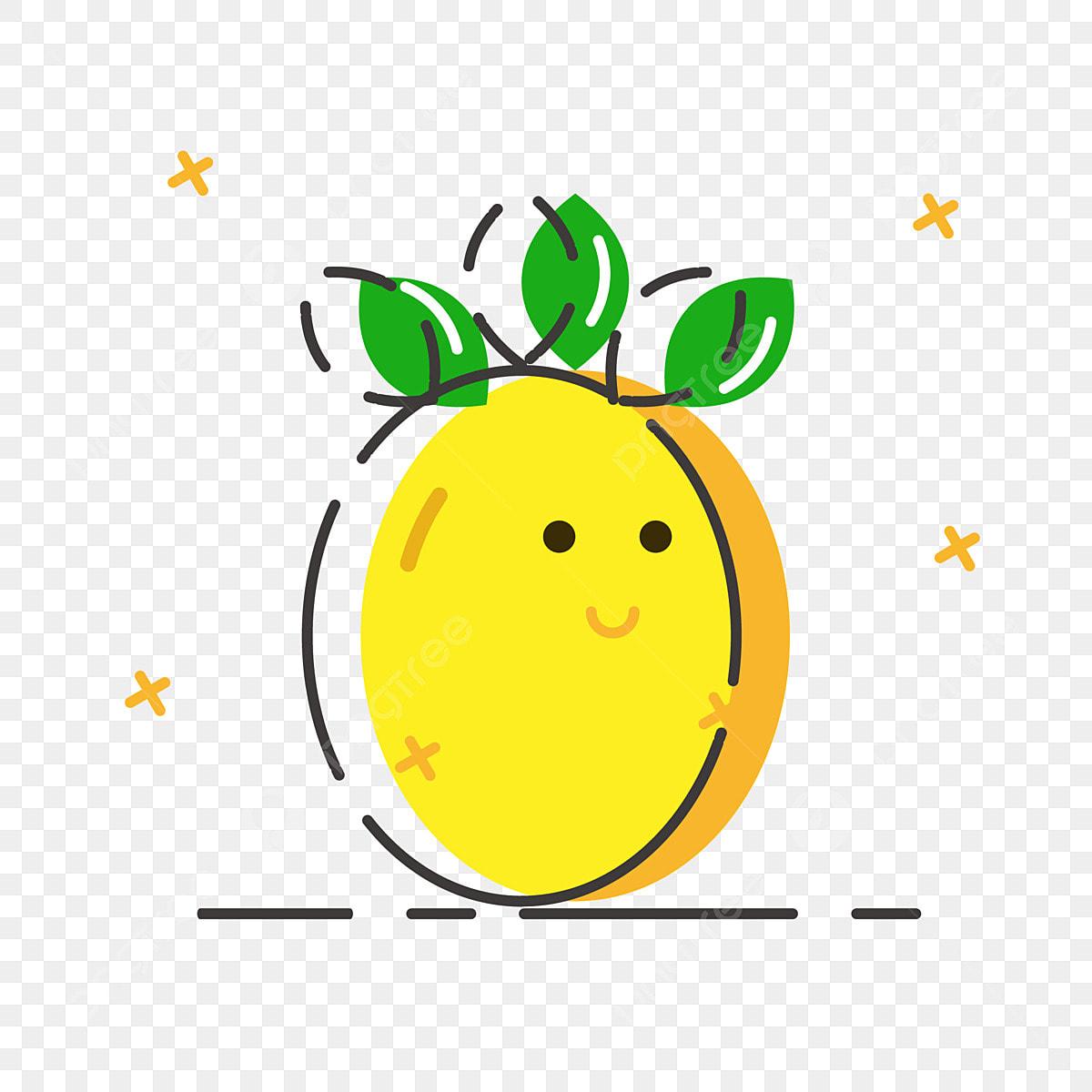 Ananas Rysunek ciepłe kolory fajnie latem postać kreskówki owoców ananasa
