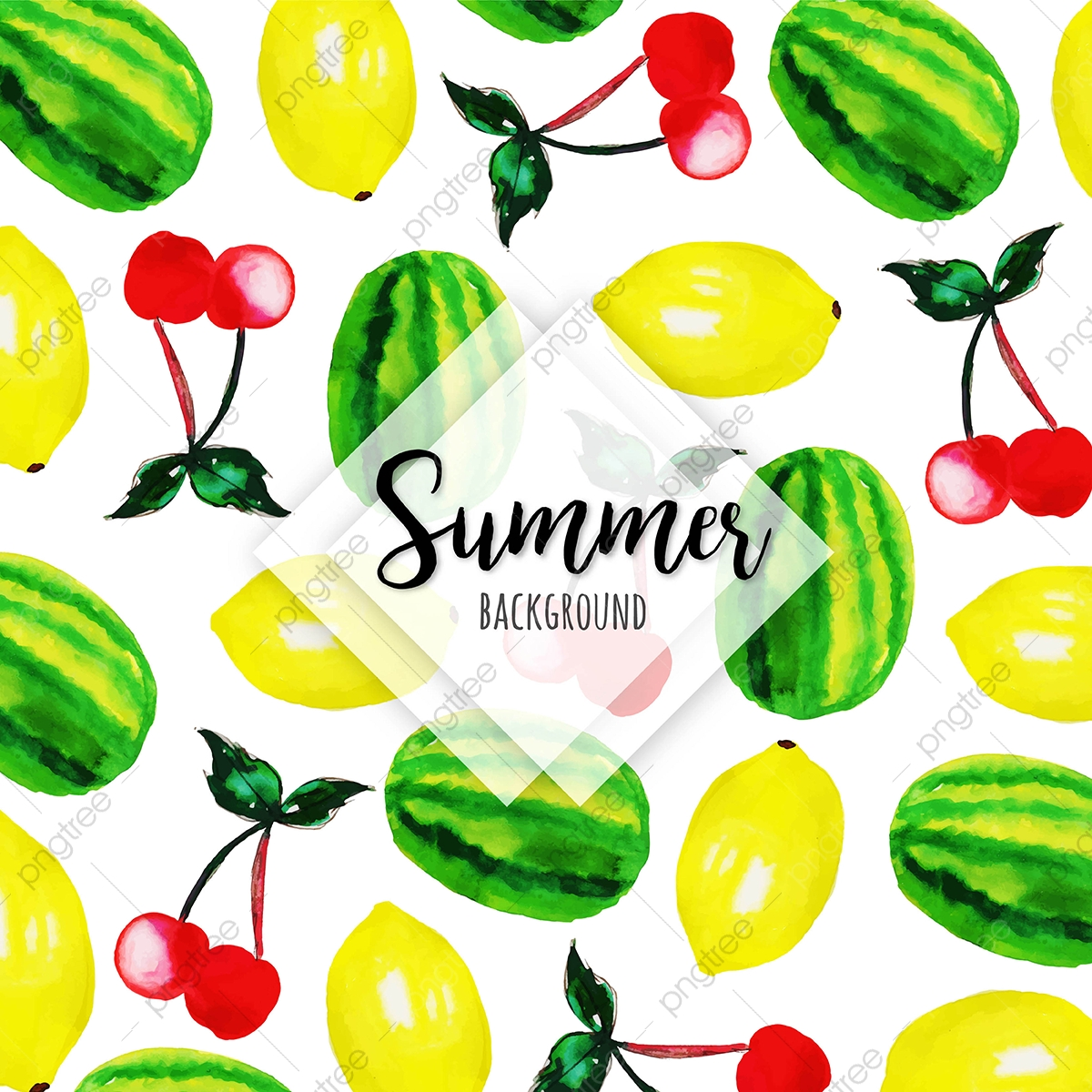 pngtree watercolor fruits multipurpose background png image 3637799