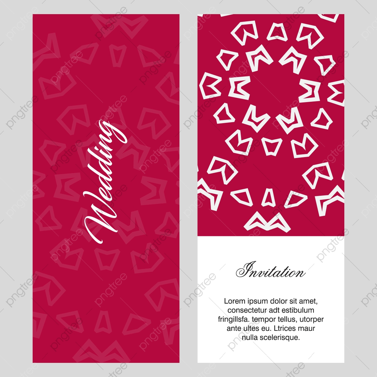 Wedding Ceremony Card With Delegent Design And Typography