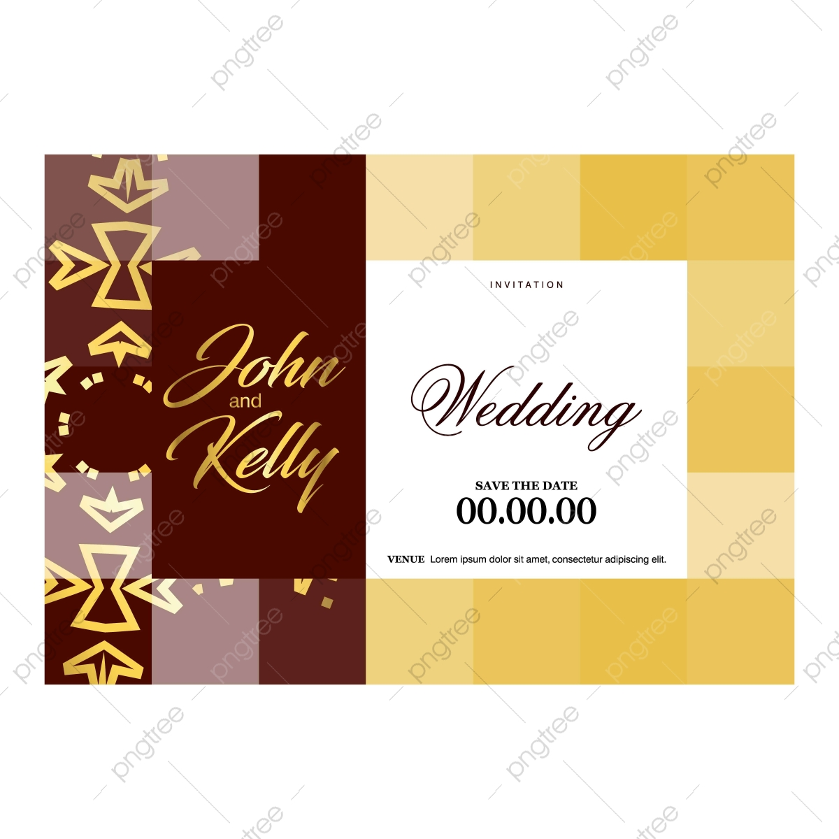 Wedding Ceremony Card With Elegent Design And Typography