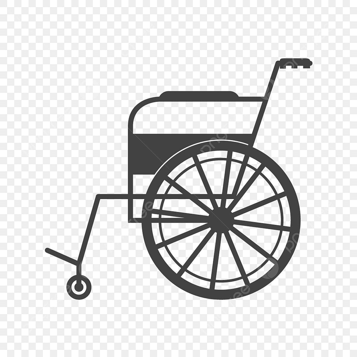 Rollstuhl Symbol Kann Schwarz Stuhl Glyphe Behinderung