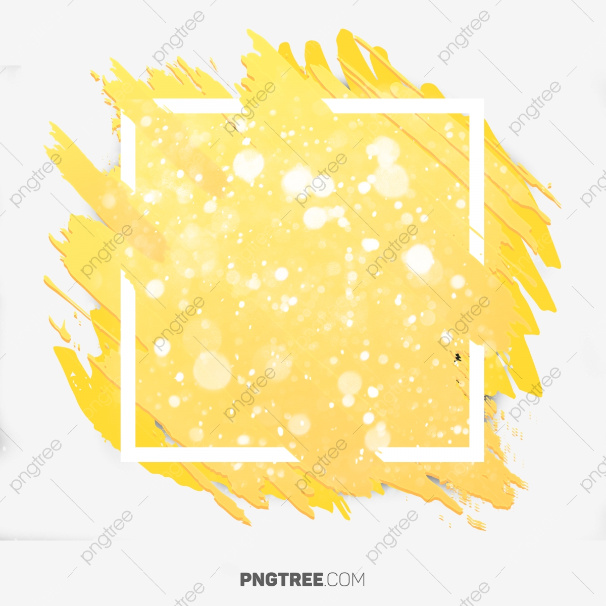 Yellow Abstract Color With Snow Background, Frame, Pastel, Square
