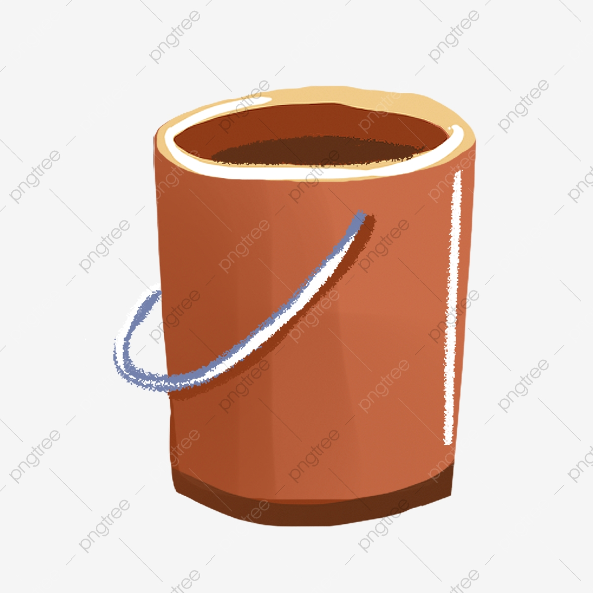 Yellow Hand Painted Arc Bucket, Luster, Cartoon