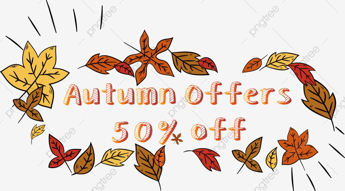 Yellow Leaves Cheap Marketing Early Autumn English Alphabet