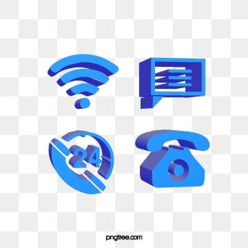blue stereo 3d technology communication icon combination, 3d, Lovely, Telephone PNG and PSD