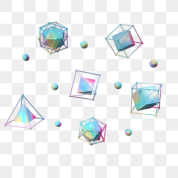 gradient solid geometry, Three Pyramid, Geometric, Color PNG and PSD