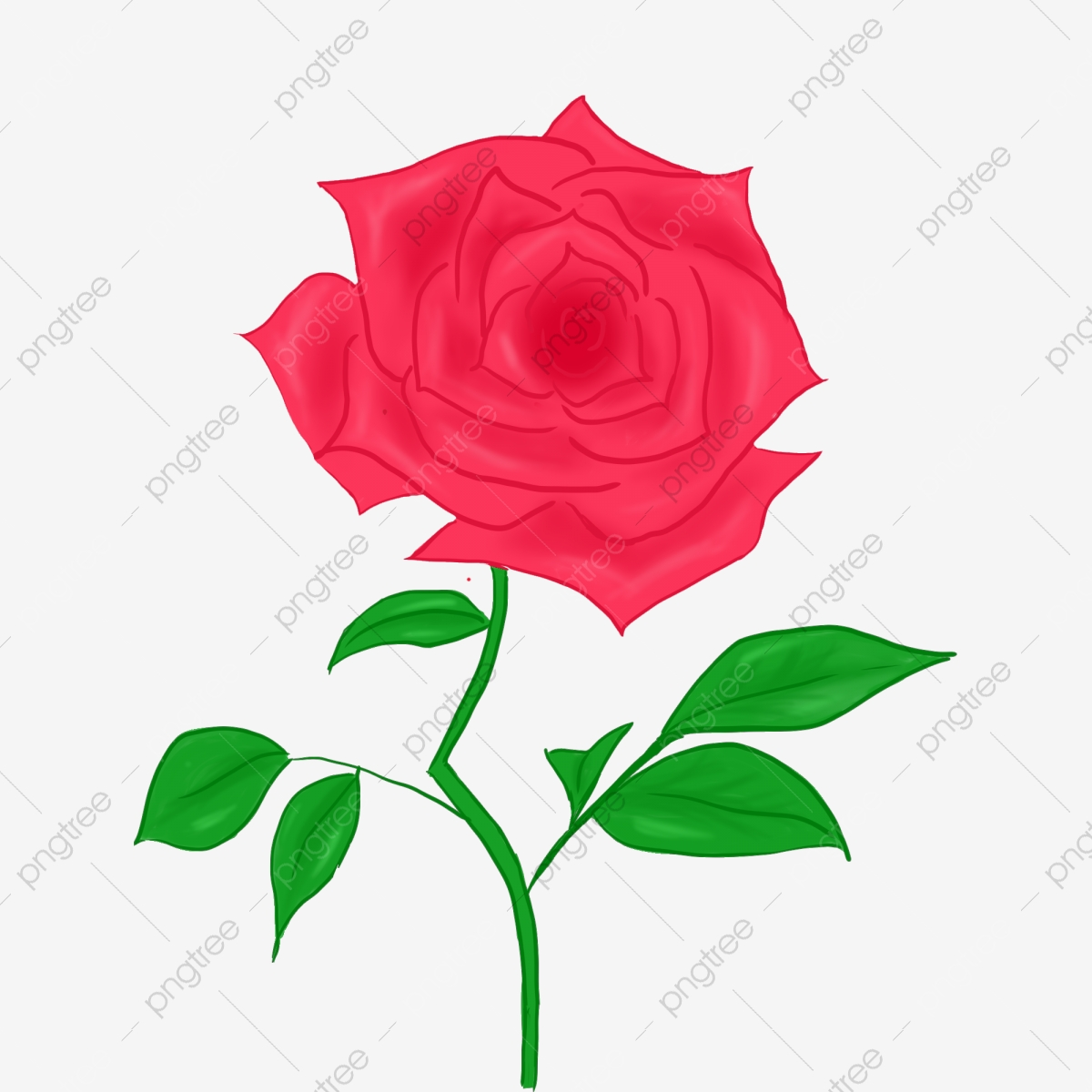 A Flower Flower Red Rose Beautiful Flowers Hand Painted Flower Branches Love Rose Love Png Transparent Clipart Image And Psd File For Free Download,Brown Color Combination For Bedroom