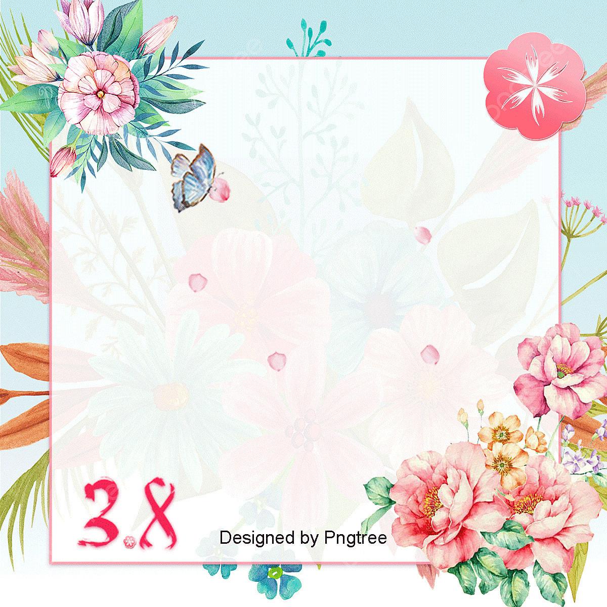 Aesthetic Handpainted Flowers 38 Background Elements Of Goddess